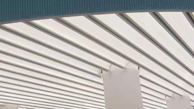 松江茸一中学@弧形铝单板