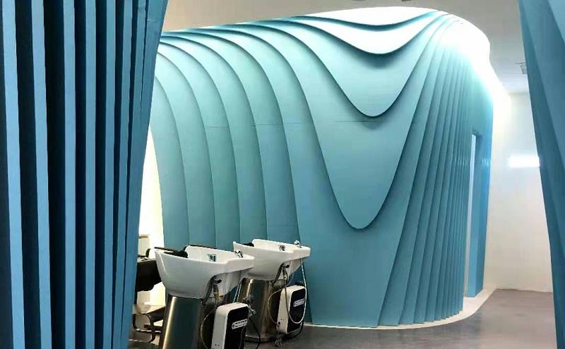 浦东世纪汇头皮管理健发中心@异型铝单板