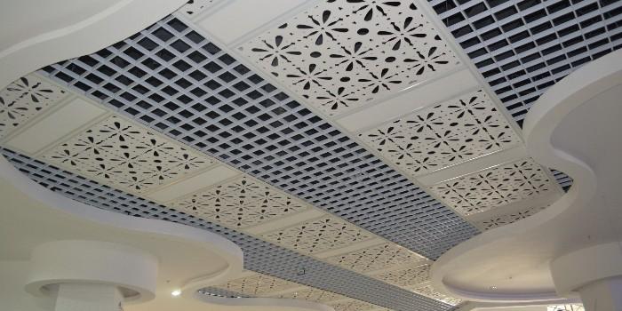 铝格栅装饰天花吊顶应用