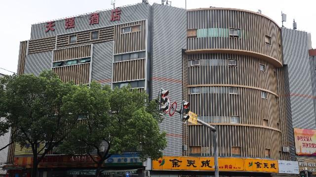 松江天强快捷酒店铝方管